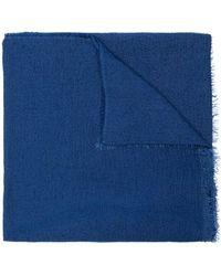 Faliero Sarti Fine knit scarf - Bleu