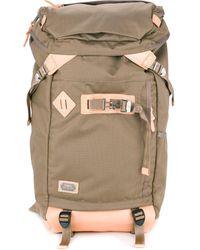 AS2OV Rucksack mit kastigem Design - Braun