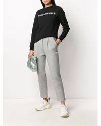 Karl Lagerfeld グラフィティ スウェットシャツ - ブラック