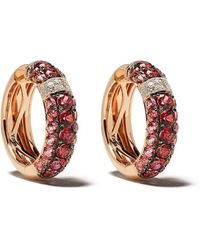 Brumani 18kt Gold Diamond Yara Hoop Earrings - Multicolor