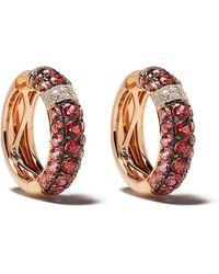Brumani 18kt Gold Diamond Yara Hoop Earrings - Multicolour