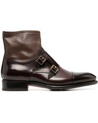Santoni Ботинки С Ремешками - Коричневый