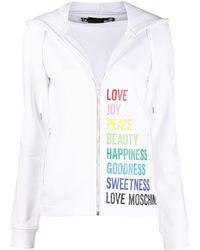 Love Moschino プリント パーカー - ホワイト