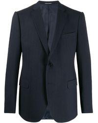 Emporio Armani ジグザグパターン ジャケット - ブルー
