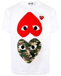 COMME DES GARÇONS PLAY - ハートプリント Tシャツ - Lyst