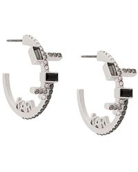 Karl Lagerfeld Серьги-кольца С Кристаллами - Металлик