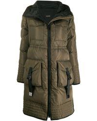 Pinko Hooded padded coat - Verde