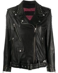 Golden Goose Deluxe Brand Байкерская Куртка С Заклепками - Черный