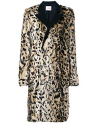 A.F.Vandevorst - Tailored Furry Coat - Lyst