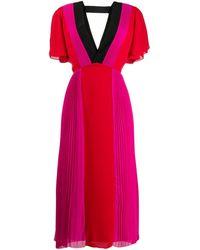 Karl Lagerfeld Плиссированное Платье В Стиле Колор-блок - Розовый