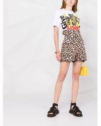 Liu Jo Leopard-print High-waisted Shorts - マルチカラー