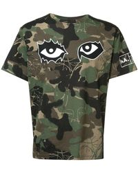 Haculla Camouflage Print T-shirt - Green