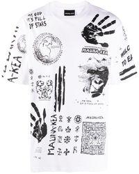 Mauna Kea T-Shirt mit Print - Weiß