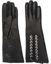 Manokhi Lace Up Long Gloves - Black