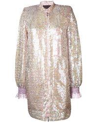 Talbot Runhof Sokoto スパンコール ドレス - ピンク
