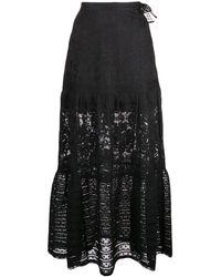 Cynthia Rowley Wicker Park レーススカート - ブラック