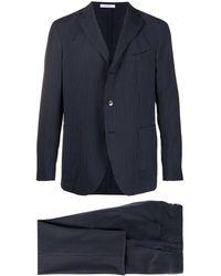 Boglioli Striped Two Piece Suit - Blue
