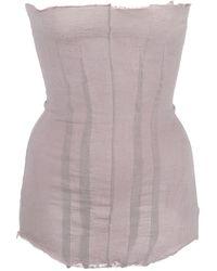 Marc Le Bihan Frayed Strapless Top - Pink