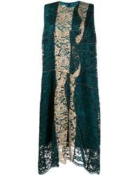 Antonio Marras Asymmetric Lace Panel Dress - Green