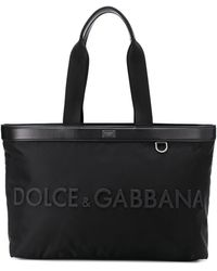 Dolce & Gabbana Draagtas Met Logo - Zwart