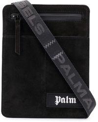 Palm Angels Logo Messenger Bag - Black