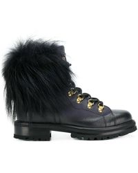 Ermanno Scervino - Pom Pom Lace-up Boots - Lyst