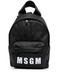 MSGM ジップアップ バックパック - ブラック