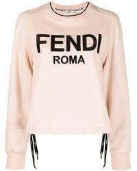 Fendi Толстовка С Вышитым Логотипом - Розовый