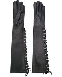 Manokhi Long Lace-up Gloves - Black