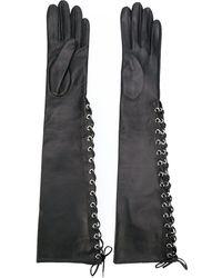 Manokhi - Long Lace-up Gloves - Lyst