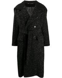Dolce & Gabbana Длинное Двубортное Пальто - Черный