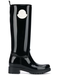 Moncler Botas de agua con parche del logo - Negro