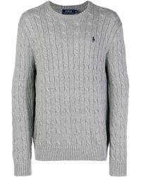 Polo Ralph Lauren ケーブルニット セーター - グレー