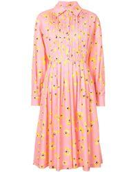 Novis - Floral Print Shirt Dress - Lyst