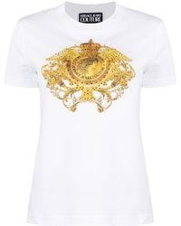 Versace Jeans Couture - バロックプリント Tシャツ - Lyst