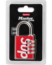 Supreme Master Numeric Combination Lock - Red