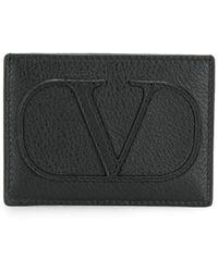 Valentino Garavani Vlogo Cardholder - Zwart
