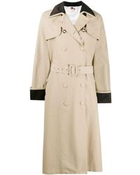 Ports 1961 Contrast-panel Trench Coat - Natural