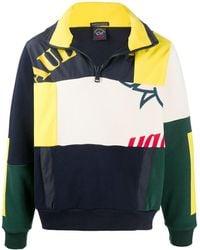 Paul & Shark パッチワーク スウェットシャツ - ブルー