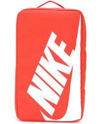 Nike Sac pour chaussures à logo imprimé - Orange
