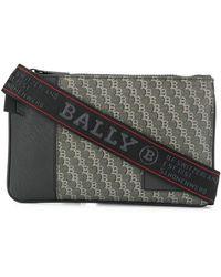 Bally ロゴ ショルダーバッグ - ブラック