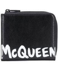 Alexander McQueen Кошелек На Молнии С Логотипом - Черный