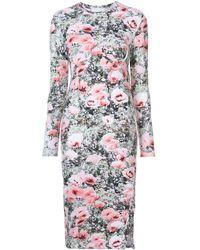 Fleur du Mal Floral Print Longsleeved Dress - Pink
