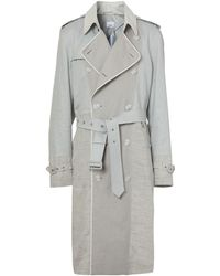 Burberry Panelled Trench Coat - Grey