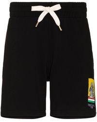 CASABLANCA Racing Cherub Drawstring Track Shorts - Black