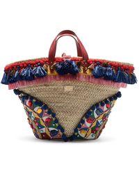 Dolce & Gabbana Verzierte Kendra Handtasche - Rot