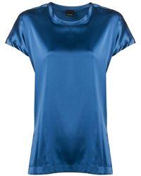 Pinko Camiseta stretch de manga corta - Azul