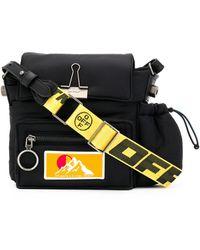 Off-White c/o Virgil Abloh Puffy Binder Clip Shoulder Bag - Black