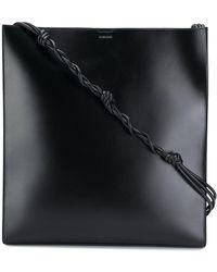 Jil Sander Oversized Shoulder Bag - Black