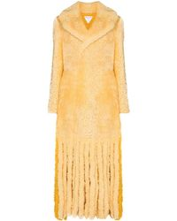 Bottega Veneta Teddy Shearling Coat - Yellow